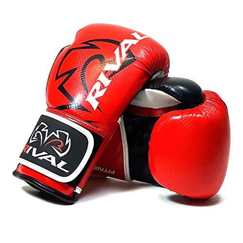 Rival Boxing Bag Gloves RB7 Fitness Plus Training - Red (M)