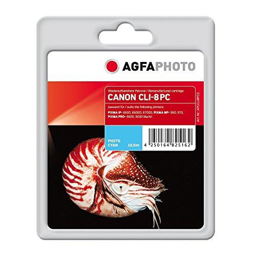 AgfaPhoto APCCLI8PCD CLI-8 PC mit Chip Druckerpatrone für Canon, fotocyan