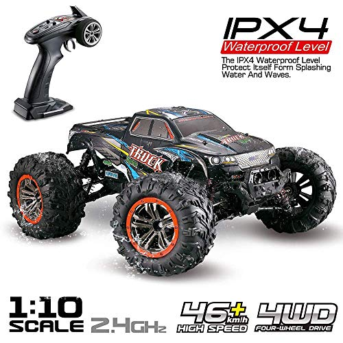 FMT Large 1:10 Scale High Speed 46km/h 4WD 2.4Ghz Remote Control Truck 9125, Radio Controlled Off-Road RC Car Electronic Monster Truck R/C RTR Hobby Grade Cross-Country Car (Assorted Colors)