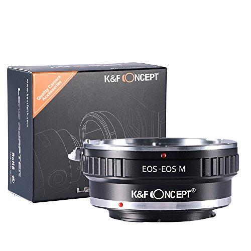 K&F Concept EOS-EOS M Adaptador de Montaje para Montar la Lente EOS EF EF-S en Canon EOS M M1 M2 M3