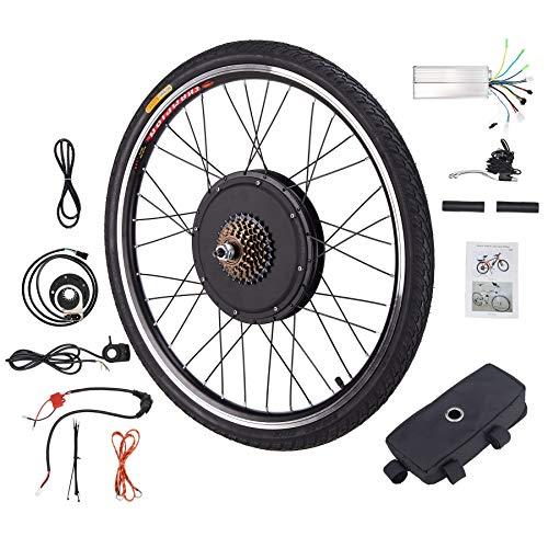Z ZELUS 26'' Kit di Conversione Bici Elettrica Controllo Mozzo Motore Hub E-Bike Ruota Bicicletta Regolatore di velocità (Ruota Posteriore 48V 1000W)
