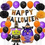 Globos de cumpleaños decoraciones, Globo de Halloween Set Feliz Cumpleaños Globo para Niña Mujeres Suministros de Fiesta de Cumpleaños, Película de aluminio/Papel de aluminio