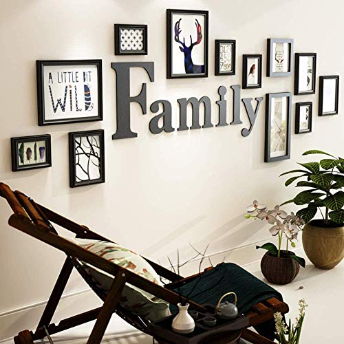 LWZY Bilderrahmen-Collagen,Foto-Collage-Rahmen,Wand-Collage,Holz Fotowand,Bilderrahmen-Set Nach Hause,Foto-Wand-Dekoration-D
