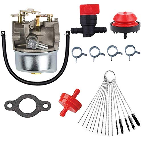 JJDD 640084 Vergaser-Kit, Grundierung, Glühbirne, Kraftstofffilter, Ventil, für Tecumseh 640084 640084A 640084B 632107 632107A HSSK40 HSSK50 HS50 LH195SA Motorvergaser