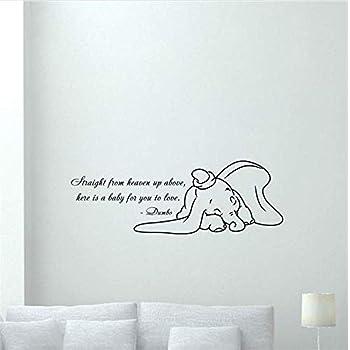 39x23cm 1015 Finestra Dumbo Stickasticker-Adesivo per Bambini RIF