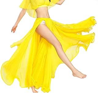 ROYAL SMEELA Frau Mädchen Bauchtanz Rock Ausbildung Performance Kleider Kleider Chiffon Tanzen Slit Röcke