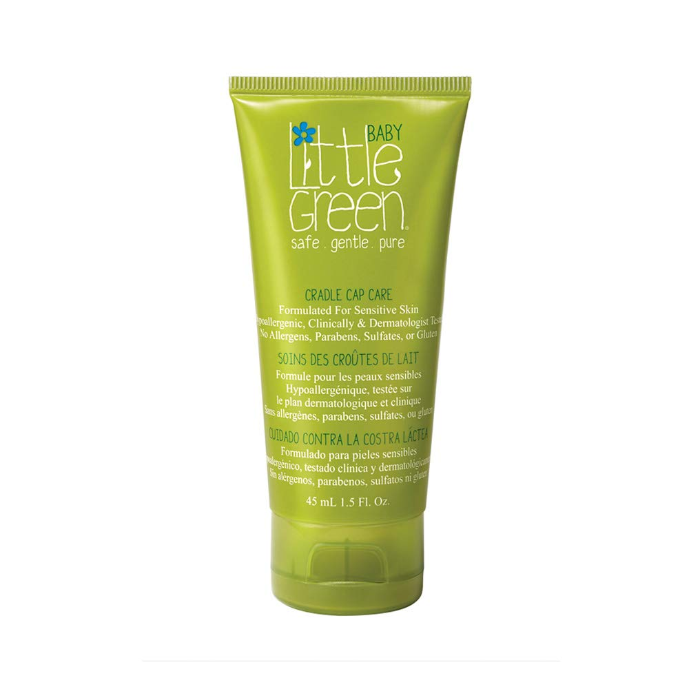 Little Green Cradle Cap Care – Safe for Daily Use – Gently Removes Flakes from Baby's Scalp – Hypoallergenic – Clinically and Dermatologically Tested – Safe for Newborns – Exfoliates Baby Cradle Cap