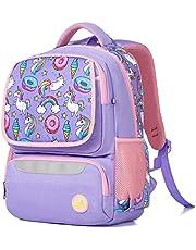 Skolryggsäck för barn enhörning lila rosa ledig dagväska bokväska ryggsäck