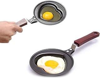 Sarplle Sartén de Huevo Mini sartén corazón Huevo sartén para Huevos, Pasteles, jamón