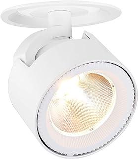 Dr.lazy 10W LED Luz de Techo Lamparas Focos LED Empotrables, Iluminación empotrable,Focos de techo,LED Lámpara de techo,LED Plafón con Focos,12X14.5CM,Agujero Φ10CM (Blanco-3000K)