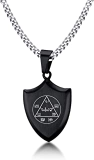 Magic Seals Amulets Spiritual Jewelry Pendent Necklace,Achaiah to Make Work or Business Popular and to Turn Enemies into F...