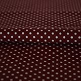 Stoff Meterware Punkte 2 mm Weiß auf Bordeaux Rot (Kinder,