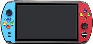 シュミ X19青春版ポータブルゲーム機 7インチHD大画面 10000in1 MD/PS/アーケード互換 多機能レトロゲーム機 ダブルレバー付き