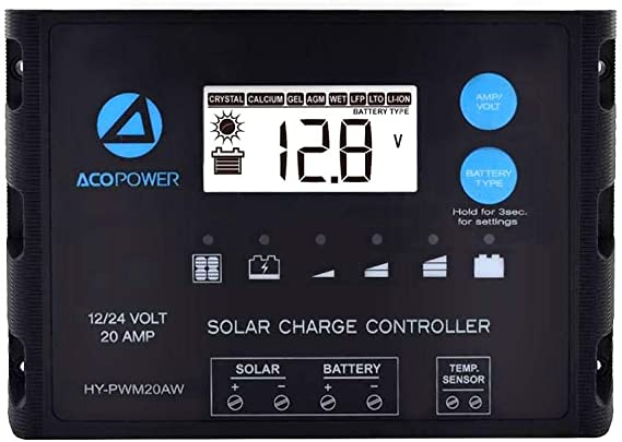 ACOPOWER Battery Temperature Sensor Solar Panel New Edition ProteusX Charge Controllers