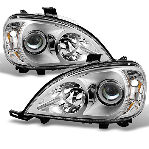 For 1998-2001 Mercedes Benz W163 ML320 ML430 M Class Projector Chrome Headlights Left/Right Headlamp