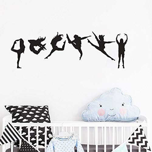 130x42 cm wand poster, gymnastic girl six dance girls sofa hintergrund kinder innenraum sport dekoration diy aufkleber wand büroraum wohnzimmer druck wandaufkleber