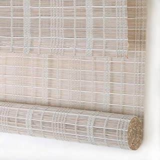 PASSENGER PIGEON Bamboo Roller Shades, Light Filtering Roll Up Blinds with Valance, 24