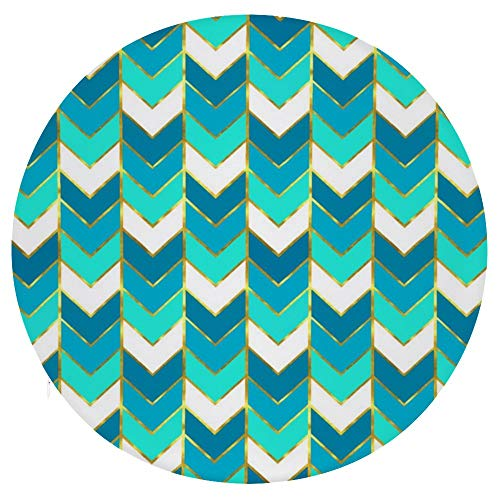 TOBEEY Round Seat Cushion Super Soft Slip Resistant Seat Pads Blue Aqua Gradient Pattern Chair Pads for Sofa Bed (40x40cm)