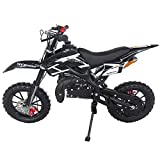 SYX MOTO Kids Dirt Bike Holeshot 50cc Gas Power Mini Dirt Bike 23inches Seat Height Dirt Off Road Motorcycle, Pit Bike Fully Automatic Transmission (Black2021, Year 2021)