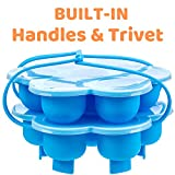 Silicone Egg Bites Molds with Built-in Handles and Trivet, Fits 5,6,8 Qt Instant Pot, Ninja Foodi and Other Pressure Cookers, Steamers and Baking Accessories, Set of 2 pressure cooker recipes Oct, 2020