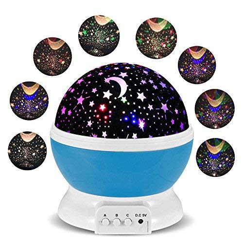 Lámparas Infantiles Lámpara de Proyector Estrella Luces ...