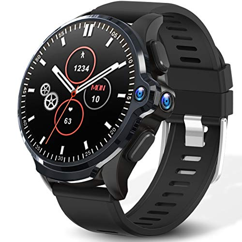 """KOSPET Prime 4G LTE Smart Watch 3GB RAM32GB ROM WiFi GPS Smartwatch Phones with 16"""" Display/1260mAh Battery/Face ID Unclok/Dual Camera Android 71 OS Watches with SIM Card Solt for Men"""