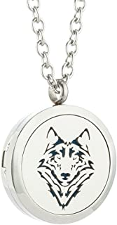 JAOYU Essential Oil Diffuser Necklace for Women Men Aromatherapy Pendant Stainless Steel Floating Charm Locket - Animal Jewelry Teen Girls Halloween Gifts