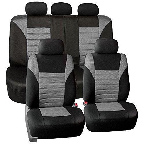 FH Group FB068GRAY115 Universal Car Seat Cover (Premium 3D Air mesh Design Airbag and Rear Split...