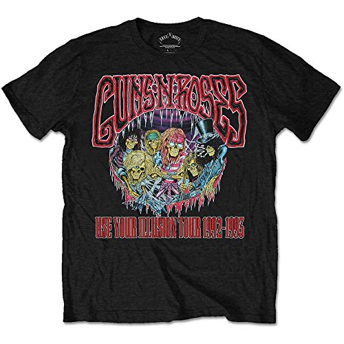Guns n Roses Use Your Illusion Tour 92-93 Slash Official Tee T-Shirt Mens Unisex (XX-Large)