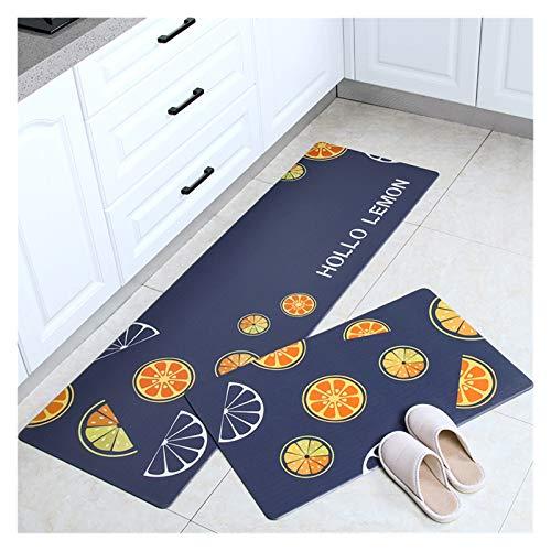 OMING Köksmattor och mattor köksgolvmattor hushåll smutsbeständiga mattor kan skrubbas långa remsor av PVC golvmattor golv komfortmattor (färg: S, storlek: 45 x 120 cm)