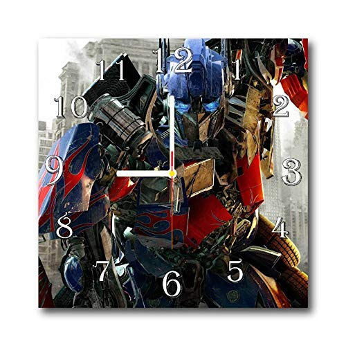 Transformers - Optimus Prime 11.8'' Handmade Wall Clock - Get Unique décor for Home or Office – Best Gift Ideas for Kids, Friends, Parents and Your Soul Mates