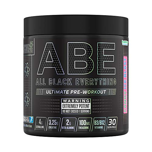 Applied Nutrition ABE - All Black Everything Pre Workout 315g - 30 Servings (Candy Ice Blast)