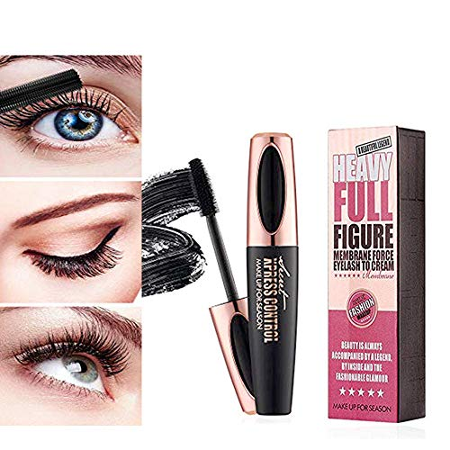 4D Silk Fiber Eyelash Mascara Waterproof Extension Makeup Black Cold Kit Eye Lashes set
