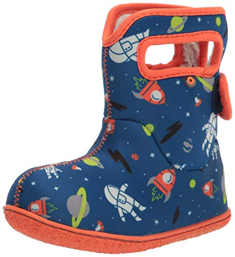 Bogs Baby Waterproof Snowboot Rain Boot, Space-Blue, 7 US Unisex Infant