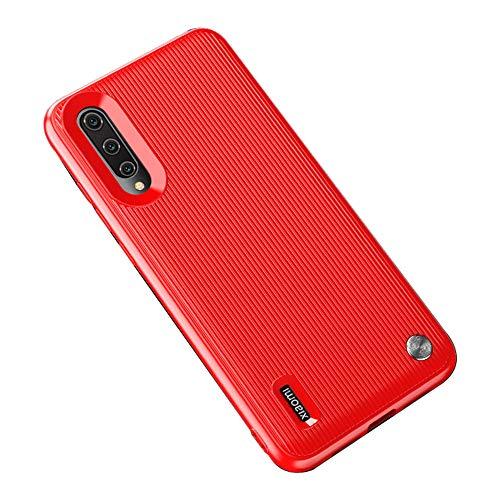 Funda Xiaomi Mi 9 Smartphones, Carcasa Silicona Suave, Anti-rasguños Protección Teléfono Case Simple Fácil de Instalar para Xiaomi Mi CC9 / Mi CC9e (Xiaomi Mi 9, Rojo)