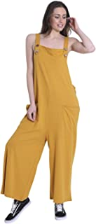 vestibilit/à Comoda Wash Clothing Company Donna Salopette di Cotone Khaki Tuta One Size AMBERKHAKI