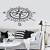 ASFGA Sport Wandaufkleber Kompass Dekoration Nautische
