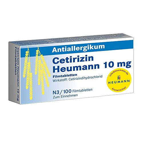 CETIRIZIN Heumann 10 mg Filmtabletten 100 St