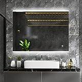 Espejo de baño Moderno con luz LED y características...