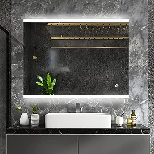 Espejo de baño Moderno con luz LED y características adicionales - Altavoz...
