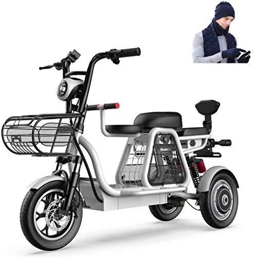 Bicicletas Eléctricas, 500W 3 Rueda de bicicleta eléctrica de 48V for adultos...