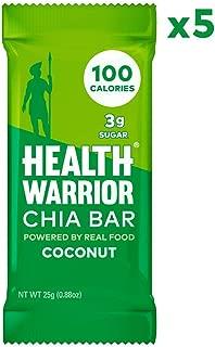 Health Warrior Chia Bars, Coconut, 5 Count