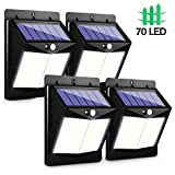 CLAONER Solar Outdoor Motion Sensor Lights 70 Leds and 3 Modes