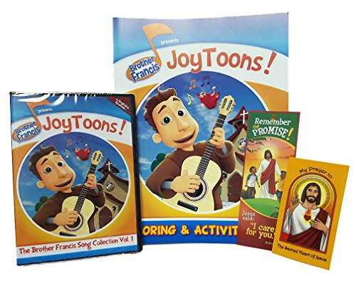 Brother Francis Joy Toons, DVD, Coloring Activity Book, Sacred Heart of Jesus Preayer Card, I Care for You Bookmark, Roman Catholic, Christian Songs, ... Me to Pray, I Am the Bread of Life, Saints