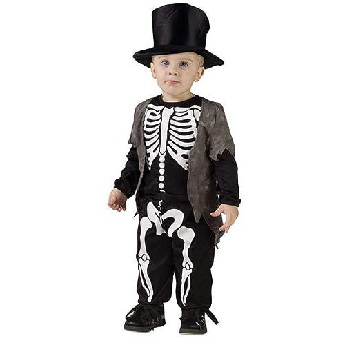 Age 3-4 Toddler Boys Cute Skeleton Print Costume Halloween Fancy Dress Kids