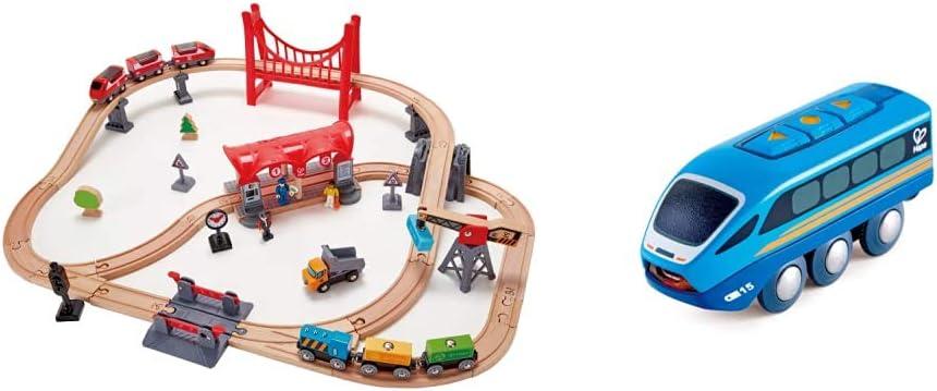 Hape Busy City Train Rail 市場 Model:E3730 Remote 訳あり Multicolor Set