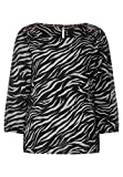 Street One Damen Print-Bluse im Zebra-Look Black 40