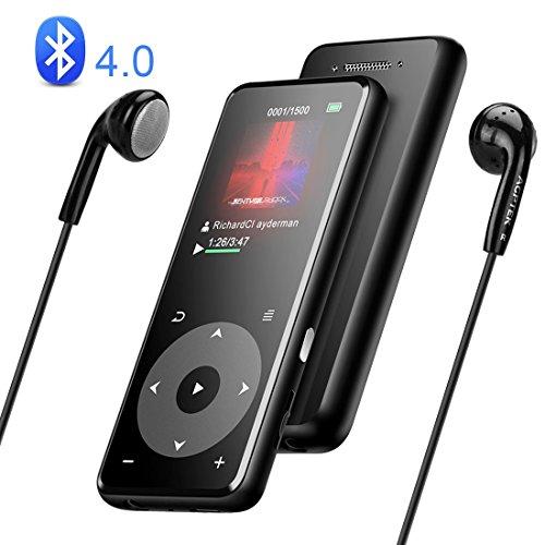 MP3プレーヤー AGPTEK Bluetooth4.0 mp3プレイヤー 超軽量 ウォークマン HIFI超高音質 スピーカー搭載 SDカード対応 光るタッチパネル デジタルオーディオプレーヤー 録音対応 歩数計 FMラジオ 小型 内蔵8GB 最大128GBまで拡張可能