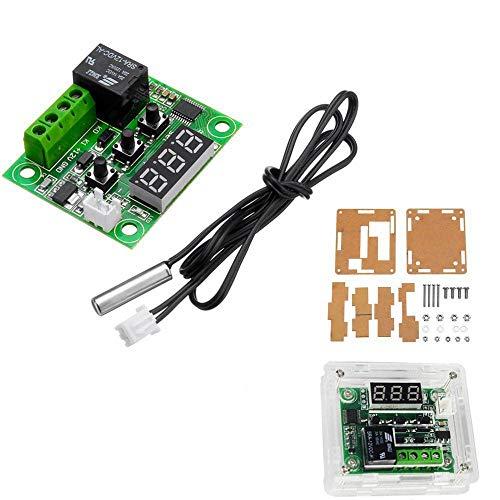 ZJF Componentes de la computadora Accesorios eléctrico 10pcs XH-W1209 DC 12V Controlador de termómetro de Interruptor de Control de Temperatura del termostato con Digital DIRIGIÓ Pantalla con Caso