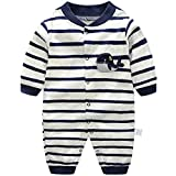 Baby Strampler Spielanzug Jungen Mädchen Schlafanzug Baumwolle Overalls Baby-Nachtwäsche, 3-6 Monate